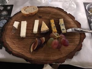 A wooden cheeseboard made for a charity event